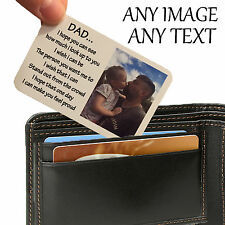 Personalised Aluminium Wallet Card Keepsake Purse Mothers Day Image Photo Text