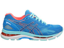 NEW WOMENS ASICS GEL-NIMBUS 19 RUNNING SHOES TRAINERS DIVA BLUE / FLASH CORAL