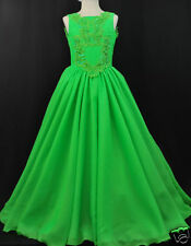 New Lime Green Pageant Wedding Dance Formal Party Dress Teens Girl 3 4 5 6 7 14