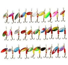 Spinner Bait Lot Bass Tackle Box Loaded Crappie Fishing Lure Hard Hooks Jigs Kit
