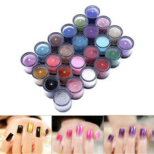 6/12/24/45 Color 3D Glitter Dust Powder Set Nail Art Acrylic Tips Decoration MF