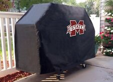 Mississippi State Grill Cover with Bulldogs Logo on Black Vinyl