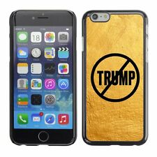 Hard Phone Case Cover Skin For Apple iPhone 174 never trump yellow paint wall