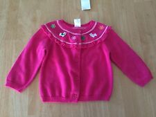 NWT Gymboree Cheery all the Way Sweater Cardigan 12-18 Mo Baby Toddler Girl