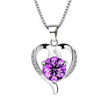 FASHIONS FOREVER® 925 Sterling Silver Heart AAA Cubic-Zirconia Necklace-Pendant