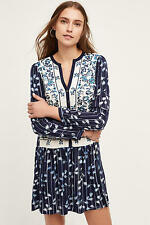 $148  ANTHROPOLOGIE By Tiny Embroidered Semele shirt dress sz XS S M L