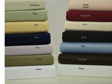 """All Size"" Bed Sheets 100%Egyptian Cotton 1000 Thread Count Select Item&Color"