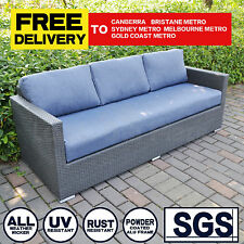 Outdoor Lounge Suite Couch Patio Wicker Sofa Set Garden Furniture w/Cushions New