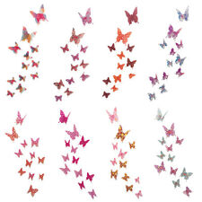 Removable 12 pc 3D Butterflies Wall Stickers Art Wall Decal Mural Home Decor DIY