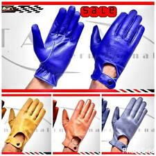 MEN'S REAL SOFT LAMBSKIN SHEEP MESH LEATHER DRIVING FASHION GLOVES NEW