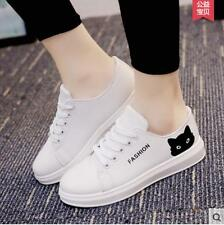 New Women Korean Lace-up Canvas Sneakers Flatform shoes Sports Causal Shoes PF19