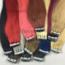 16-24inch Seamles PU Hair Weft Skin Tape in Remy Human Hair Extensions 20pcs