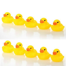 1/5/10/20PcsYellow Baby Puzzle Gift Bath Toys Cute Rubber Tweak Squeaky Duck New