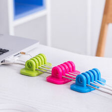5 Color Available Cable Winder Tidy Desk Desktop Cord Wire Organizer Holder Clip