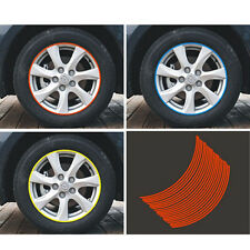 POP 16 Strips Wheel Sticker Reflective Rim Stripe Tape Bike Motorcycle Car Tape