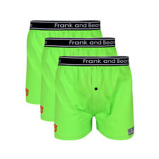 3 x FRANK AND BEANS BOXER SHORTS MENS UNDERWEAR BOXERS BLUE +