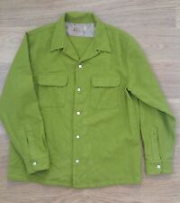 Mens Levi Vintage Clothing LVC 1940's Green Western Wool Over Shirt Size XS £150