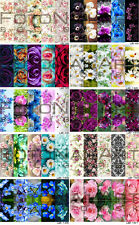 10 pcs Sheets Nail Art Stickers Water Slide Decals DIY Flowers Rose