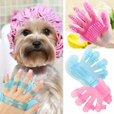 HANDY PET BRUSH GLOVE GROOMING GLOVE HAIR REMOVAL AND MASSAGE FOR DOG CAT NEW