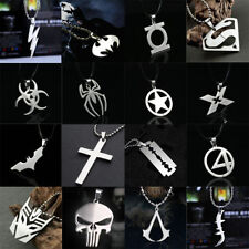 Marvel Super Heroes Stainless Steel Titanium Silver Fashion Pendant Necklace