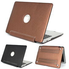 """For Macbook Air Pro Retina 11 12 13 15"""" PU Leather Coated Sleeve Hard Case Cover"""