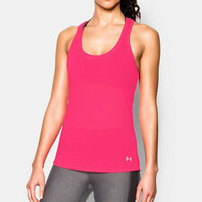 Under Armour Charged Womens Pink Racerback Running Sports Vest Tank Top