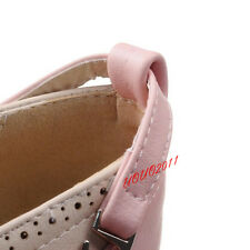 Lolita Women Bowknot Ankle Strap Mary Janes Shoes Cosplay Casual Shoes Plus Size