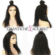 """Curly Wigs Human Hair Full Lace Front Indian Remy Hair Wig For Black Women 8-24"""""""