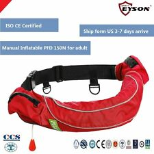 PFD Manual Inflatable Life Jacket Waist Pack 110N Eyson for Adult CE certified