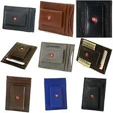 Wallet AlpineSwiss Mens Leather Money Clip Magnet Front Pocket Slim ID Card Hold