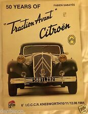 1984 ICCCR CITROEN book by Fabien Sabatés including 50 Years of Traction Avant