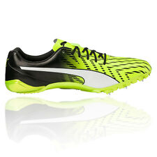 Puma EvoSPEED Electric 5 Mens Yellow Running Track Field Spikes Shoes Pumps