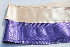 Pearlized CB SNAKE SKIN HIDE real taxidermy tanned leather