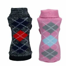 Small Pet Puppy Dog Cat Winter Warm Knitted Coat Sweater Apparel Costumes XS-XXL