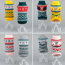 Pet Dog Cat Snowflower Warm Sweater Clothes Puppy Knitwear Coat Apparel Costumes