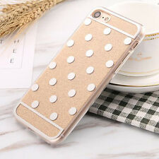 For iPhone 7 7 Plus 6 6S Cute Bling Glitter Polka Dots Sparkle Mirror Case Cover