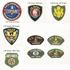 Sew Iron On Embroidered Patch Military Theme DIY Crafts Clothes Garment Applique