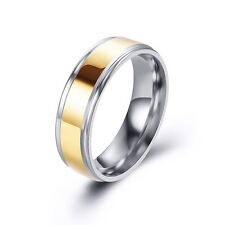 Fashion Womens Mens Smooth Stainless Steel Wedding Bands Rings Cool