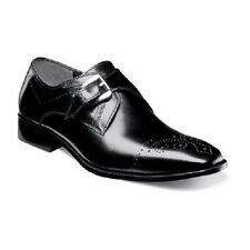 Stacy Adams Kimball Mens shoes Black Buffalo leather Wingtip oxford 25110-001