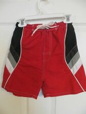 NEW URBAN EXTREME BOYS SWIM SHORTS RED BLACK GRAY WHITE 100% POLYESTER  4T , 4