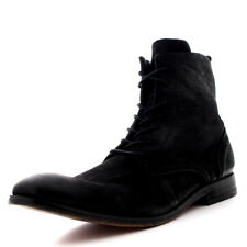 Mens H By Hudson Swathmore Nubuck Lace Up Black Smart Work Ankle Boots UK 6-12
