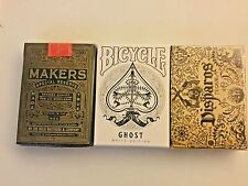 3 Pack rare playing cards. 3 new sealed decks