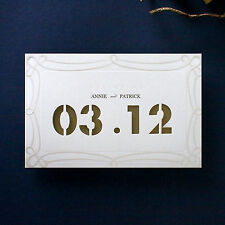 Simple Wedding Invitation Date Laser Cut For Your Special Day - Mo95011