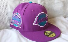 LA LAKERS New Era 59FIFTY mens 7 1/8 fitted hat (RARE PURPLE CAP: ONLY 1 LEFT!)