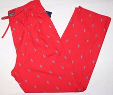 Polo Ralph Lauren Pajama Pants Pony All Over Cotton Lounge Pants M L XL Red