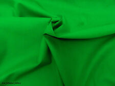 GREEN PLAIN POLYCOTTON FABRIC * Per Meter /Half Meter/Fat Quarter*