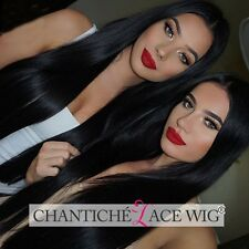 Women's Lace Front Human Hair Wigs Silky Straight 6A Indian Remy Full Lace Wigs