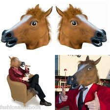HORSE MASK BROWN HORSE 'S HEAD RUBBER MASK LATEX CARNIVAL HORSE MASK ROSS