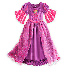NEW Disney Store Princess Rapunzel Deluxe Nightgown Costume GOWN Tangled Girl