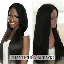 Glueless Lace Front Wigs Remy Human Hair Straight Indian Wigs For Black Women 6A